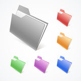Vector Folders Stock Images
