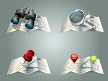 Vector folding map stock illustration