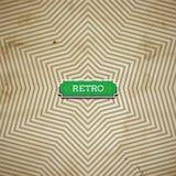 Vector a folha de papel velha com teste padrão geométrico como uma estrela Imagens de Stock