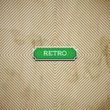 Vector a folha de papel velha com teste padrão geométrico quadrado Fotos de Stock Royalty Free