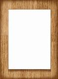 Vector a folha do papel vazio A4 no fundo de madeira Fotos de Stock Royalty Free