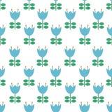 Vector folk art pattern - Scandinavian, Nordic style seamless pattern background royalty free illustration