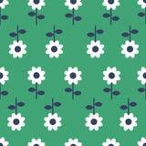 Vector Folk art seamless pattern background - Scandinavian, Nordic style vector illustration