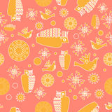Vector folk background Royalty Free Stock Image