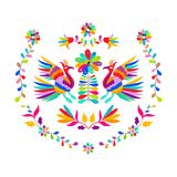 Vector folk Mexican Otomi Style embroidery Pattern. Eps 10 Stock Photography