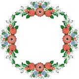 Vector folk painting circle Royalty Free Stock Image