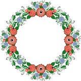 Vector folk painting circle 2 Royalty Free Stock Photography