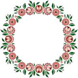 Vector folk painting circle 3 Stock Images