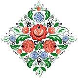 Vector folk painting rhombus Stock Images