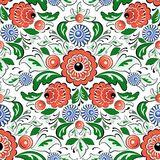 Vector folk painting seamless Royalty Free Stock Image