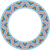 Vector folk round Frame Cross-stitch Stock Photos