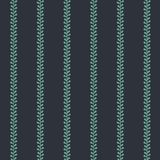 Vector Folklore Periwinkle Stripes on dark seamless pattern background royalty free illustration