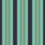 Vector Folklore Periwinkle Stripes seamless pattern background stock illustration
