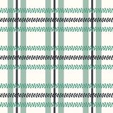 Vector Folklore Plaid with Periwinkle on bright seamless pattern background. stock illustration