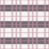 Vector Folklore Plaid with Periwinkle in Dusty Pink seamless pattern background. Perfect for fabric, wallpaper and scrapbooking projects stock illustration