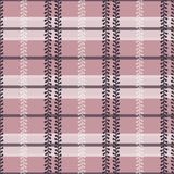 Vector Folklore Plaid with Periwinkle in Dusty Pink seamless pattern background vector illustration