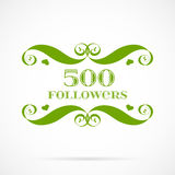 Vector 500 followers badge over white. Easy use and recolor elements for your design vector illustration