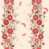 Vector fond decorative flowers Royalty Free Stock Image