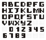 Vector font Royalty Free Stock Images