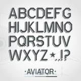 Vector font Royalty Free Stock Photography