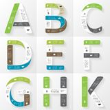 Vector font infographic, diagram with letters Royalty Free Stock Image