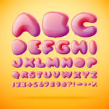 Vector font made from balloons. Alphabet Stock Photo