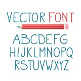 Vector Font with Pencil Alphabet Typography Design. Vector Font with Pencil. Alphabet Typography Design stock illustration
