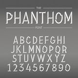 Vector Font with Shadow Stock Photography