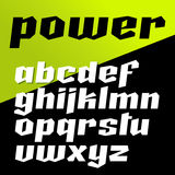 Vector font in strong power style Stock Photos