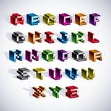 Vector font, typescript created in 8 bit style. Pixel art contem Stock Images
