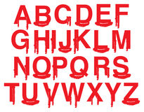 Vector Fonts with Graphic Blood and Gore Stock Images