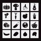Vector food icon with Healthy Vegetables and fruits Royalty Free Stock Photos