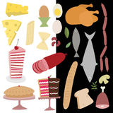 Vector food icon set Stock Images