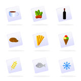 Vector food icons Stock Images