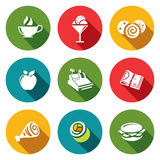 Vector food icons set Royalty Free Stock Photo