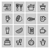Vector food icons set Stock Images