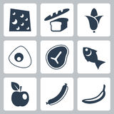 Vector food icons set royalty free illustration