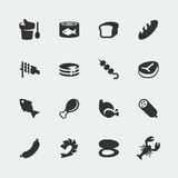 Vector food icons set #1 Stock Photography