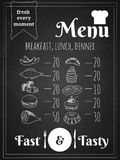 Vector Food Menu Poster Design Stock Photography