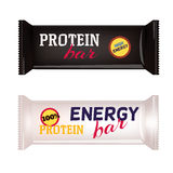 Vector  Food Packaging For Protein Bar Stock Image