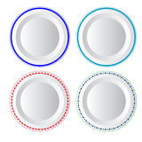 Vector food plate Royalty Free Stock Image
