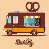 Vector food van illustration retro vintage. Vector bakery truck illustration retro vintage Royalty Free Stock Photography
