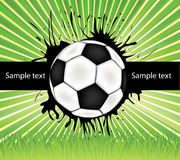 Vector football background Stock Photography