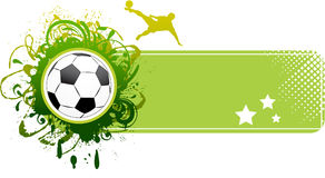 Vector football banner. Royalty Free Stock Image