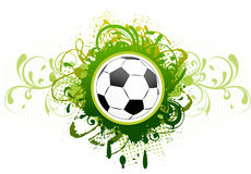 Vector football banner. Royalty Free Stock Photo