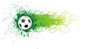 Vector football banner. Royalty Free Stock Photos