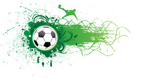 Vector football banner. Stock Images