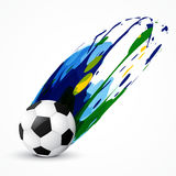 Vector football design. Vector abstract soccer game design Royalty Free Stock Images