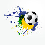 Vector football design. Grunge style vector football design Stock Images