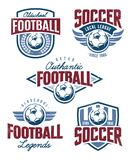Vector Football Emblems Royalty Free Stock Images